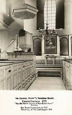 Postcard Boston MA Christ Church Old North Church Pulpit Chancil RPPC c1939-50