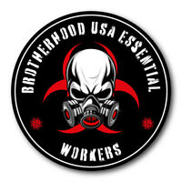 50 PACK Essential Worker Hard Hat Sticker Nuclear Toxic Covid VINYL Decal Set 19