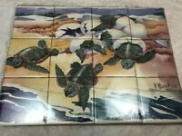 Raver Largemouth Bass Ceramic Mural Backsplash Kitchen 13x5 in