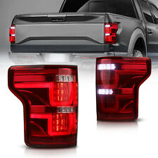 Full Led Tail Lights Rear Lamps Assembly For 15 16 17 Ford F 150 F150red Clear