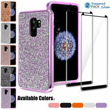 For Samsung Galaxy S9 Plus/Note10 S20 S8 Case Bling Armor Shockproof Phone Cover