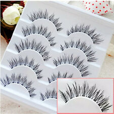 100% Real Human Hair Natural False Fake Eyelashes Eye Lashes Makeup Extension fr
