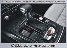 4x Audi S-line Sticker for MMI Button Logo Aufkleber RS3 RS5 TT RS S3 S4 S5 S6--