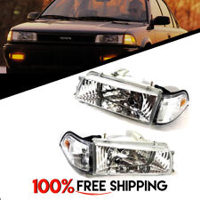Toyota Corolla AE90 AE92 93 94 Front Chrome Pair Headlights lamps for 88 to 92