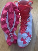 Under Armour Youth RM Highlight Football Lacrosse Cleats Pink NEW Size 4 Youth