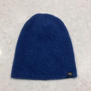 Tracksmith Merino Wool Hat Flawed Prospect Beanie Blue