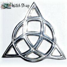 "3"" TRIQUETRA ALTAR TILE Silver Openwork Celtic Paten Wiccan Altar Supplies"