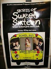 "SECRETS OF SWEET SIXTEEN 1974 ORIGINAL  MOVIE POSTER  27"" x 41"""