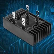1x 100A Amp 1600V Voltage 2-Phase Diode Bridge Rectifier High Power Black Safety