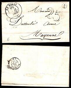 Lettre Pré-philatélique : CACHET Type 14 + Boîte Rurale / Lot Classique France