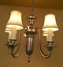 Vintage Lighting 1920s Colonial Revival silver chandelier