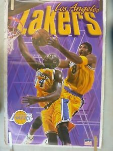 RARE KOBE BRYANT SHAQUILLE  O'NEAL LAKERS 1999 VINTAGE ORIGINAL NBA POSTER