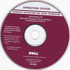 Vintage Dell Microsoft Windows XP Home Edition (Reinstallation CD) *DISC ONLY*