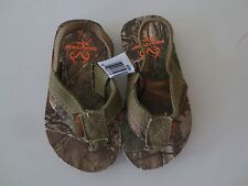 NEW Boy Toddler *5/6**7/8**11/12* REALTREE Camo Flip Flops Thong Sandals