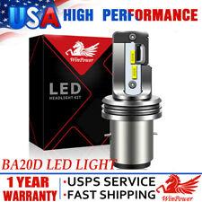 Ba20D H6 High Power Led Motorcycle Hi/Lo Beam Bulb Headlight Fog Light 6000K Usa