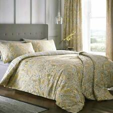 Ochre Duvet Covers Paisley Print Stripe Reversible Quilt Cover Bedding Sets