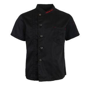 Unisex Cool Chef Jackets Short Sleeves Coat Waiters Shirt Hotel Kitchen Uniforms