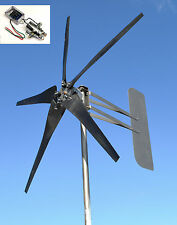 Wind Turbine 5 Blade MORE POWER! 1645W 48 volt AC 3-wire 14-SC PMA 6.3 kW W/REG