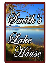 Personalized Sign Lake House Printed with YOUR NAME DURABLE ALUMINUM FULL COLOR