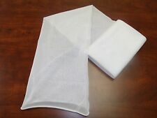8' feet Micro Mesh Fine Fabric Tubes / Sleeves  Elastic Protecting Netting WHITE