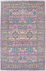 Muted Colors Vintage-inspired Chobi 5X8 Area Rug Wool Oriental Home Decor Carpet