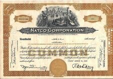 National Fireproofing Corporation - NATCO stock certificate dated 1958-1961