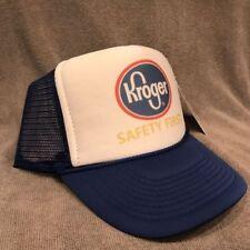 Kroger Safety First Grocery Vintage Trucker Mesh Hat Adjustable SnapBack Cap 101