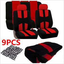 Universal 9pcs Auto Seat Cover Car Full Styling Seat Cover For Car Truck Suv RED