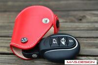 Leather key cover for 2014 to now Make MINI COOPER F54-F57 ONE JCW in RED