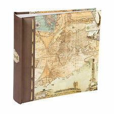 """Kenro Old World Map Photo Album Memo Photographs 6x4"""" 200 Pictures"""