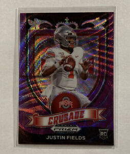Justin Fields 2021 Prizm Draft Crusade Purple Wave Rookie RC OSU Bears PWE