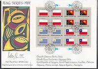 UNO New 1984 York  FDC MiNr. 448-463   Flaggen Bogen-Satz
