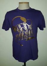 retro vintage style LEVI LEVIS STRAUSS Purple & Gold color Tshirt Music sz XL