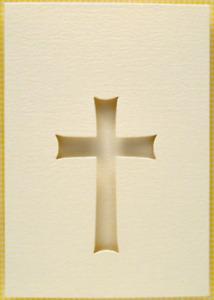 Easter Cross Aperture 3 fold A6 Blank Card pk2 plus envelopes
