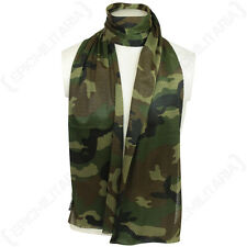 Woodland Camo Mesh Net Scarf - Scrim Neckerchief Cadets Army Military Soldier