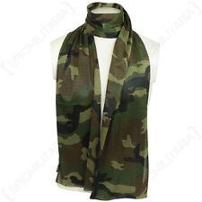 Woodland camouflage maille nette écharpe-Scrim Foulard Cadets Armée Militaire Soldat