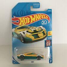Hot Wheels MR11 Toy Car HW Sports Soccer Best for Track Yellow Aqua Trap5 Wheels