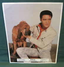 Elvis Presley All Star Shows Publicity Photo Kissin Cousins Colonel Signed
