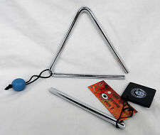 Sturdy Rattlesnake Percussion Triangle & Beater Musical Instrument - BNWT