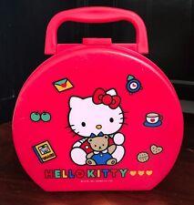 Vintage Sanrio Hello Kitty Pencil Box, Cosmetics Case, Jewelry Box, Lunch Box