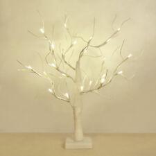 Modern Battery Operated 45cm Decorative White LED Tree Table Lamp Novelty Light