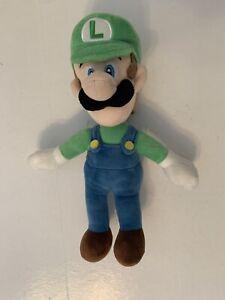 "LUIGI NINTENDO SUPER MARIO BROS Plush LUIGI green hat 11"" plush 2017"