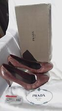 PRADA red wine shoes leather high-heel, sz39.5 EU/ 9USA/ UK 6,5