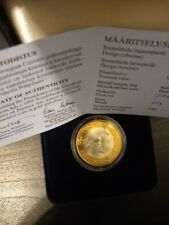 Finland 10 Markkaa 1999 EU Presidency Silver/Gold Proof W/COA & Box,