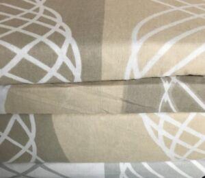 Flannel Sheet Set KING Size 4 Piece 100% Cotton Heavy Deep Pocket Gray Brown