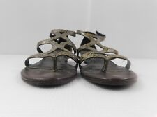 49bc7824b2f Matisse Leather Strappy Low Wedge Sandals Shoes Women s Size 8 Animal Print