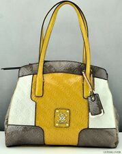 NWT Handbag GUESS Valka Satchel Bag Taupe Multi