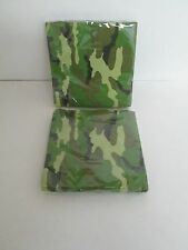 ARMY CAMOUFLAGE LUNCHEON NAPKINS 16 pk - LOT OF 2 PACKAGES - PARTY SUPPLIES