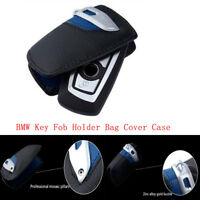 Key Case Bag Cover FOB Holder For BMW 3 5 7 Series X3 Sport Line Genuine Leather