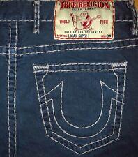 Original TRUE RELIGION Jeans LOGAN SUPER T STRAIGHT-CUT Darkblue W 36/34 Bobby